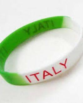 Italy Fan Rubber Wrist Band