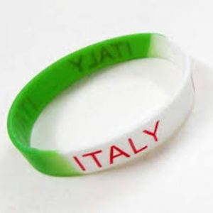 Italy Fan Rubber Wrist Band