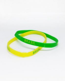 Brasil Fan Rubber Wrist Band (2 Pieces)